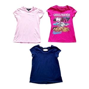 Lot of Girl's Short Sleeve T-Shirts Size 7